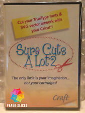 SURE CUTS A LOT 2 CD + Fonts + SVG Files, No More Cricut Cartridges! scal alot