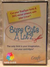 SURE CUTS A LOT 2 CD + Fonts + SVG Files, No More Cricut Cartridges! scal alot