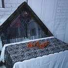 Halloween Black Lace Spider Web Tablecloth Table Cloth Haunted House Party Decor