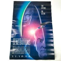 Vintage 1994 Star Trek Generations Original Large Movie Poster Patrick Stewart