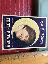 1886 Dr Blooms Tooth Powder Trade Card Advertising