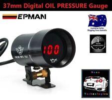37mm Digital OIL PRESSURE Gauge *RED LED* Turbo R32 R33 R34 180SX 200 V8 SS SV6*