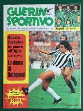 GUERIN SPORTIVO 1974 n 29 , CAUSIO JUVENTUS , RAFFAELLA CARRA' BASKET CANON
