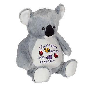 Plüschtier, Kuscheltier, Baby-Geschenk individuell bestickt, Koala