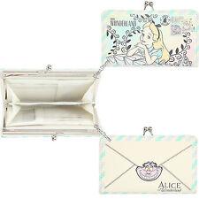 Disney Alice in Wonderland Cheshire Postcard Kisslock Hinge Accordion Wallet NWT