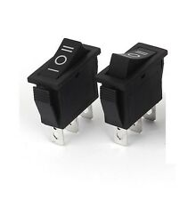 5Pcs Black 3Pin ON-OFF-ON 3 Position Rocker Switch 15A/250V 20A/125V SPDT