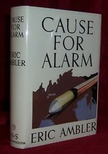 Eric Ambler CAUSE FOR ALARM First Edition Classic British Spy Thriller SCARCE!