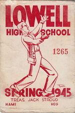 LOWELL HIGH SCHOOL ~ 1945 BASKETBALL CARD ~ JACK STROUD ~ NY GIANTS GUARD