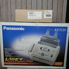 New Panasonic High Speed Laser Focus Fax and Printer Combo KX-FL511 W/ Toner