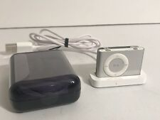 Apple iPod Shuffle 2nd Generation 1GB A1204 Silver W Headphones , Charger Bundle