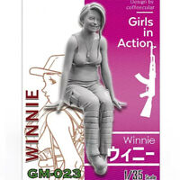 1/35 Winnie Girls in Action Resin Model Kits Unpainted GK Unassembled