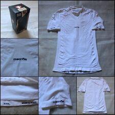 New listing Macron Beta Technical Undershirt Thermax Fabric White XXL Short Sleeves 2XL