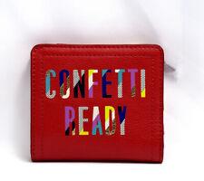 Fossil Logan Womens Mini RFID Wallet Purse Red