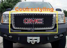 FOR 07 08 09 10 GMC Sierra 2500/3500 HD Black Wire Mesh Rivet Grille Insert