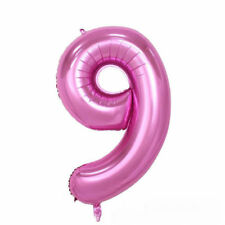 """40"""" Giant Pink Nine Year Old Baby First Birthday 9 Month Number Float Balloon US"""
