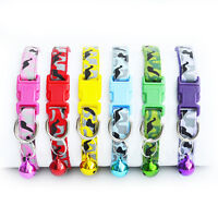 1/6/8Pcs Safety Reflective Cat Collar Breakaway with Bell for Dog Puppy Kitten