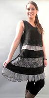 Damenkleid Stufenkleid von Sarah Santos schwarz Gr.S  Lagenlook  MADE IN ITALY