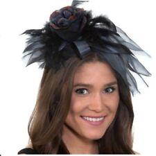 Day of the Dead - Headband Fascinator - Black - Costume Accessory - Adult Teen