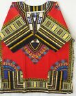 Men Dashiki Shirt Women Red Yellow Hippie  Boho African Caftan Mexican one size