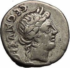 Roman Republic 97BC Quinarius Apollo Victory Trophy Ancient Silver Coin i57351