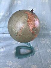 Vintage Antique 1930'S C.S. Hammond'S 6 Inch Terrestrial Globe Metal Stand