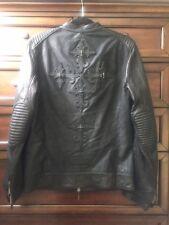 JADED BY KNIGHT Leather Biker Jacket Medium