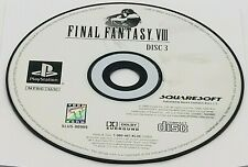DISC #3: Final Fantasy VIII (Sony PlayStation, 1999) PS1 BLACK LABEL REPLACEMENT