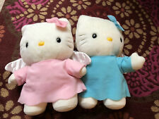 Hello Kitty Sanrio Vintage Angel Set Of 2 Pink Blue Late 90s Early 2000s