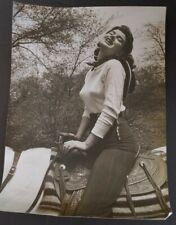 NORMA RENAULT Original 1950s Large Sexy Photo Cowgirl Sweater Girl Headlights vv