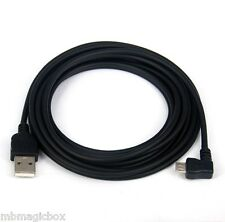 3M 10ft CHARGER ONLY Left Angle USB Cable BLACK 4 BlackBerry PRIV LEAP Passport