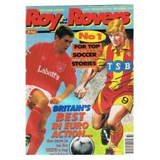 Roy of the Rovers Comic September 12 1992 MBox2798 Britain's best in Euro action
