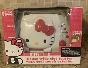 Hello Kitty 2-Slice Wide Slot Toaster With Cool Touch Exterior Bread Bagels* New