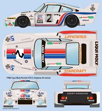 1980 Liqui Moly Porsche 935-J Daytona 1/24 scale water transfer decals AMT