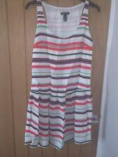 Mango Striped dropped waist dress xs