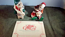 The Legend of Santa Claus United Design 1986 Larry MIller Sculptures Elf Pair