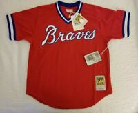 MLB Mitchell & Ness Authentic Throwback Batting Practice Jersey Dale Murphy L