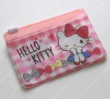 Sanrio Hello Kitty bow pink checker Card Holder zip bag