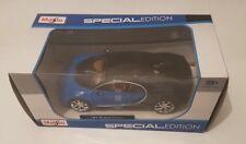 Bugatti Chiron Special Edition escala 1:24  de Maisto NUEVO color azul raro