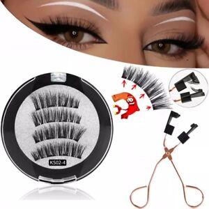 3D magnetic eyelashes With 3/5 Magnets Mink reusable eyelashes plus tweezers