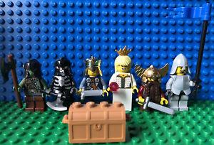 Lego Castle Crown Knights Lot Minifigure King Princess Skeleton Fantasy Era Orc