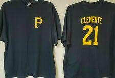 0908 Mens Pittsburgh Pirates Roberto Clemente Baseball Jersey Shirt New Black