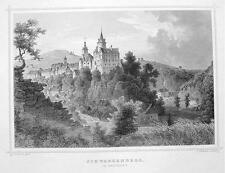GERMANY Schwarzenberg Castle in Erzgebirge - 1860 Original Engraving Print