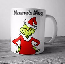 Personalised Mug / Cup -The Grinch - Christmas Gift / Secret Santa  - Any NAME