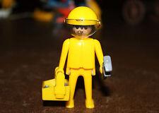 Playmobil personnage vintage chantier casque visière et ses 5 outils ref cc