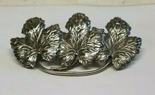 SOLID SILVER BROOCH BY WARD BROTHERS STAMPED STERLING SILVER WBS LEAF PATTERN