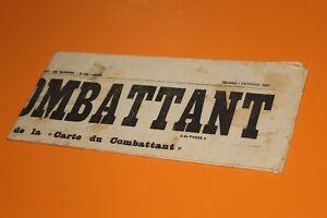 (82) Journal L'ancien combattant Janvier 1930 N°3