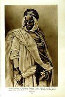 Original Old Vintage Print C1920 Berber Mulatto Sahara Egypt Negress Algiers