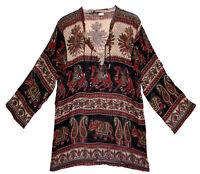 Indian cotton BLOUSE TOP BOHO ETHNIC TUNIC hippie WOMEN EHS BLUSA  retro gypsy