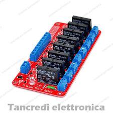Modulo Relè SSR 8 Canale Relay Stato Solido 5V 2A Rele per Arduino Omron scheda
