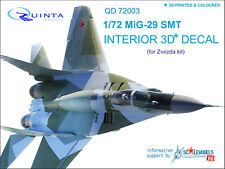 Quinta studio's QD72003 1/72 MiG-29 SMT Interior 3D decal (for 7309 Zvezda kit)